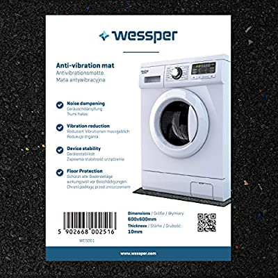 Wessper Anti-vibration Washing Machine Mat for Bosch WAS28444ME/06 (60 x 60 x 1cm)