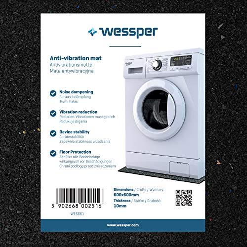 Wessper Estera de la Lavadora para Samsung WF0502NUWG/XEC (60 x 60 x 1cm)