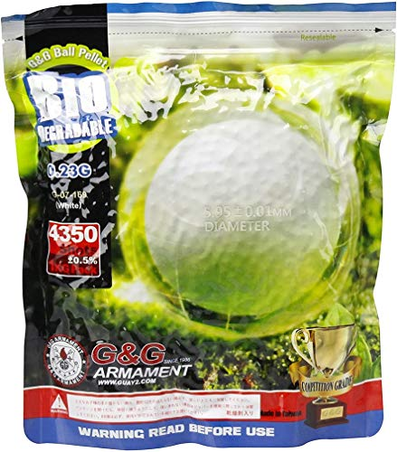 G&G Pallini Softair Bianchi Biodegradabili Da 0,23 Grammi (4350 Pallini), Confezione Da 1 Chilogrammo
