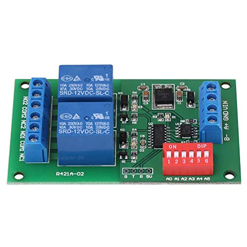 Rockyin RTU & AT Command 2 CH RS485 Relais PLC Controller UART Serial Port-Switch