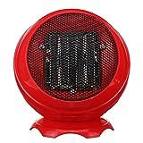 TuToy 220V 500W Mini Calentador Eléctrico Ventilador Ptc Calefacción Portátil De Escritorio Home Office Ventilador Calentador - Rojo