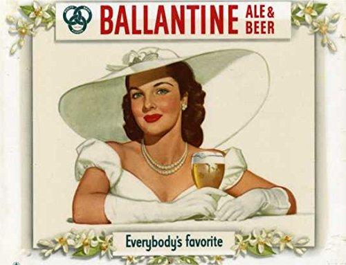 Calamita da frigo in acrilico a forma di ballantine e birra preferita da tutti, stile vintage shabby chic o può essere utilizzata una placca.