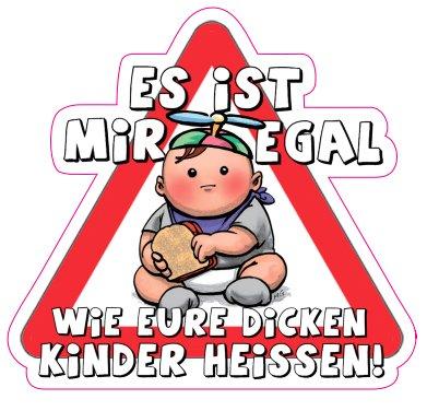 Sticker Het is mij ongeacht hoe uw dikke kinderen warm 110 x 102,7 mm