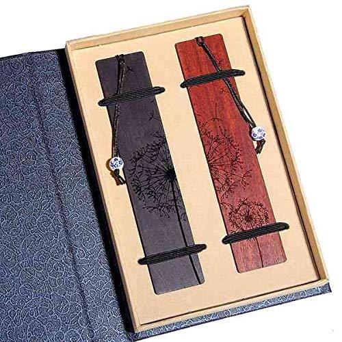 bobotron Set di segnalibri fatti a mano in legno naturale, set regalo unico per insegnanti, studenti, donne, vVVter, MMnner
