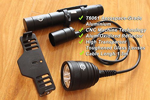 Merlin Light Led Dive Mask Scuba Diving Lighting Waterproof Head Torch Flashlight Lamp 492ft 3000lm 3pcs Cree L2 U2 Magnetic Switch (torch+2charge)