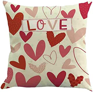 Yesmile Valentine's Day Pair Cushion Cover Decorative Pillow Bedding Case Throw Pillow Covers For Cars Sofa Cushion Home Decorative Cushion Covers Decorative Gift Cases Pillowcase