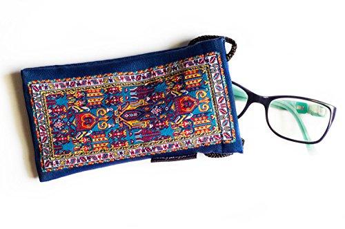 Tietsien-Design Augengläser-Hülle/Handyhülle – Orientalischer Teppich gewebter Stoff
