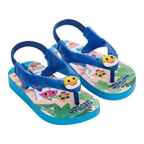 Chinelo Baby Shark, Ipanema Kids, Bebê Unissex, Azul, 20