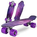 Gonex Monopatín Skateboards Patinete Retro Crucero Completo para Niños Jóvenes Adultos, Skates Penny Board Patín (22...