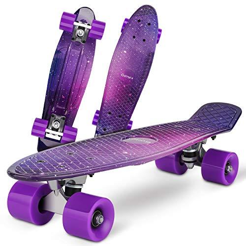 Gonex Skateboard Completo Mini Cruiser Skates Penny Board per Bambini Giovani Adulti Principianti Professionisti (22 Pollici, 4 Ruote in PU, Tavolo in Plastica Rinforzata, Cuscinetto ABEC-7)