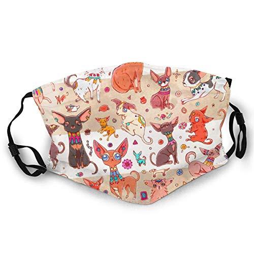 Garitin Katzen-Gesichtsmaske, antiker Chihuahua-Druck, Maske, Hut, Halstuch, Kopfbedeckung für Damen und Herren