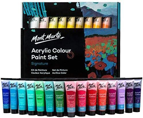 Mont Marte Signature Acrylic Paint Set 36 colors x 36 ml Semi Matte Finish Suitable for Canvas product image