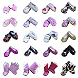 ZITA ELEMENT 5 Pairs Fashion Shoes for 18 Inch American Girl Doll, Our Generation Doll and other 45 - 46cm Dolls Random Style