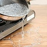 KINLO Glasklar Folie 2mm Dick- 80x120cm - PVC Transparent Tischfolie Abwaschbar Tischschutz Folie Wasserdicht Tischdecke Durchsichtig Table Protector Rechteckig Tischschutzfolie mit Abgerundete Ecken - 5