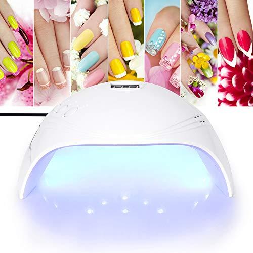 Nageldroger, draagbare led/uv-lamp voor nagels, 30/60/90 s timer, infrarood sensor, USB-opladen, afneembare magneetplaat, LCD-display, geschikt voor alle gels.