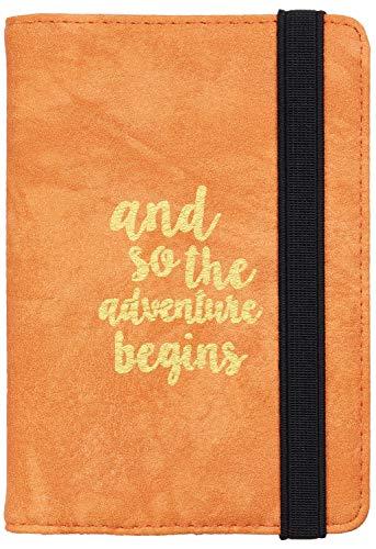 Casmonal Passport Holder Cover Wallet RFID Blocking Leather Card Case Travel Document Organizer(Newcastle Orange Yum)