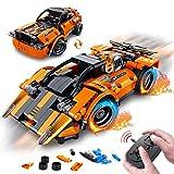 VATOS STEM Bausteine Auto Spielzeug ab 6 7 8 9 10 Jahren für Jungen & Mädchen 335PCS Teile 2-in-1 Technik Ferngesteuertes Auto 2,4 GHz RC Rennwagen Konstruktionsspielzeug Baukasten für Kinder