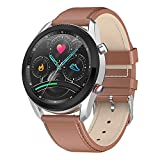 ZGZYL L61 Smart Watch Watch Llamada Bluetooth con Oxígeno En La Sangre Presión Arterial Rate Heart Watch Actividad Seguimiento Pedómetro Calorie Impermeable Reloj Deportivo,C