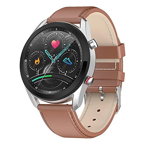 ZGZYL L61 Ladies Smart WATCK Llamada Bluetooth con Oxígeno En La Sangre Ritmo Cardíaco En La Sangre Reloj De Presión Arterial Rastreador De Fitness De Los Hombres Paso Contando Calorie Sports Watch,A