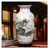 Vase Grave Handmade Porcelana Greenery Adiciones Flores Artificiales Accesorios de Habitación Estilo Clásico Charm Artístico Pastel Porcelana 61x30cm para Flores