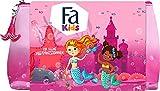Fa Kids Geschenkset Meerjungfrau mit 2in1 Duschgel & Shampoo und Flüssigseife in Federmäppchen