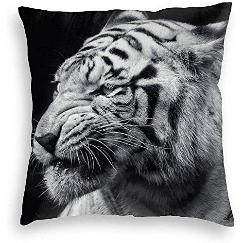DJNGN Throw Pillow Covers Cool Tiger Soft Velvet Pillowcase DoubleSided Printed pillow cover pattern pillow cushion cover 45 * 45cm