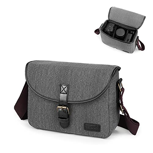 UBORSE DSLR SLR Kameratasche Systemkamera Fototasche für Spiegelreflexkameras Kamera Wasserdicht Schutztasche Canvas für Digitalkamera kompaktkamera Objektiv Blitz Kamerazubehör