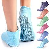 Non Slip Yoga Socks with Grips for...