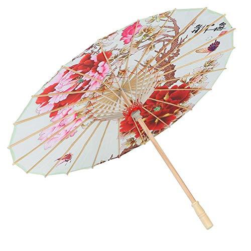 Klassischer geölter Papierregenschirm-chinesischer japanischer orientalischer Sonnenschirm-Hochzeits-Brautpartei-Dekor-Foto-Stützen-Regenschirm(#1)