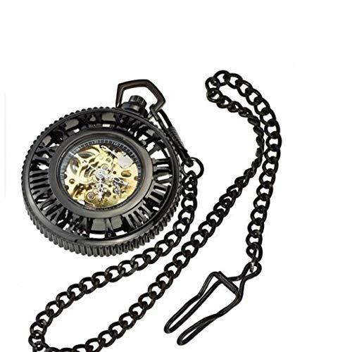 * KZBH Taschenuhr, automatische mechanische Retro-Taschenuhr mit römischen Getriebe, automatische Dampfmaschine, Modeindustrie, alte Herrenuhren, Taschenuhren A