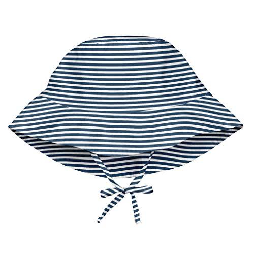 i play. 747161-607-52 Sonnenhut - marine nadelstreifen - 9-18m, blau