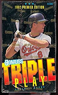 1992 Donruss Triple Play Baseball Trading Card Set Wax Pack Box FACTORY SEALED