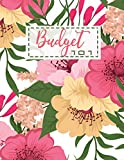 Budget 101: Happy Planner Budget with Guide with List of Income , Monthly - Weekly Expenses and Bill Organizer | Valentines Day Floral Design (Budget Spreadsheet)
