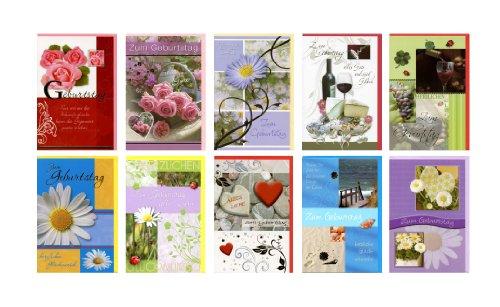 Taunus 51-7777 - 10 Premium - Grußkarten zum Geburtstag