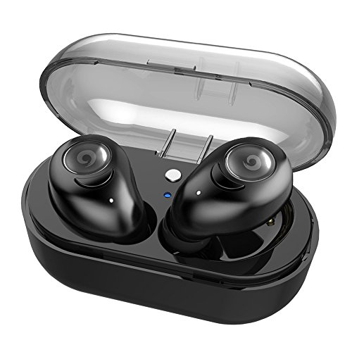 Beartwo Wireless Earbuds with Charging Case, Noise Reduction V4.1 Wireless Bluetooth Headphones with Microphone, Sweatproof in-Ear Bluetooth Earphones for Sports&Exercise-Stereo Mode/Mono Mode