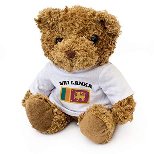 Teddybeer SRI Lanka vlag – schattig knuffelig zacht – cadeau