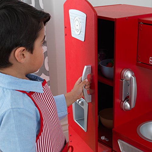 KidKraft 53173 Vintage-Spielküche aus Holz in Rot - 12
