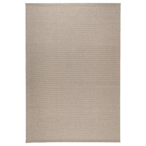 Ikea Morum - Alfombra (tejido plano, interior y exterior, 200 x 300 cm), color beige