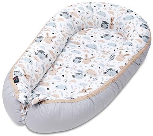 Baby Nestchen Babybett Kuschelnest Baby Nest Reisebett Baby Babybett Liegekissen Baby Lagerungskissen Baby Kokon Kissen Babynestchen Für Kinderbett Für Neugeborene Und Babys Schlafnest Baumwolle