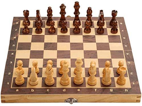 Ajedrez para tablero harry potter juegos Juegos de tablero Juego de ajedrez de madera magnético con la pieza de ajedrez de placa plegable y las ranuras de almacenamiento, incluyen 2 reinas adicionales