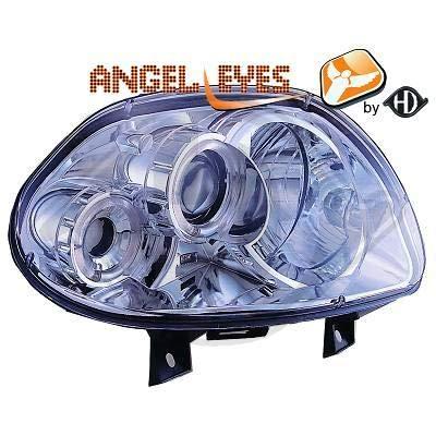4413480, 1 paar Angel Eyes koplampen chroom voor Clio 2 van 1998 tot 2001