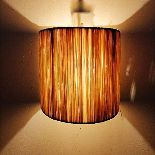 Decoración étnica aplique pared lámpara rafia mimbre marroquí 0104211500