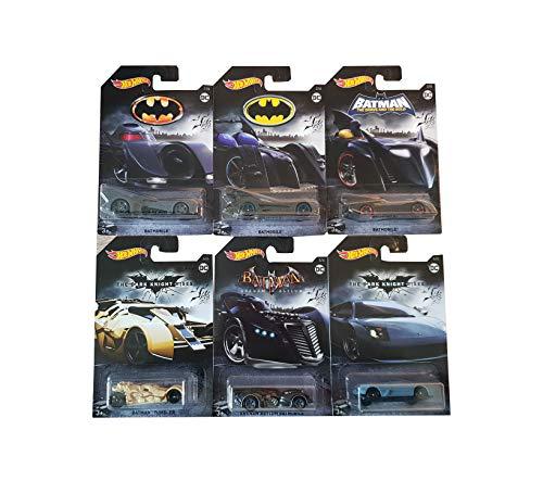 Mattel-Hot Wheels Batman DC Batmobil-Modelle 6er Set