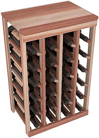Wine Racks America Redwood Special sale Albuquerque Mall item 24 Unstained Table Bottle Top.