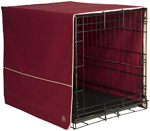 Pet Dreams- Dog Crate Cover- Burgundy Red- Small