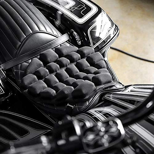HANLING- Motorcycle Air zitkussen Pressure Relief Ride Seat Cushion TPU Water-Fillable Seat Pad for Cruiser Touring Zadels (Color Name : Black)