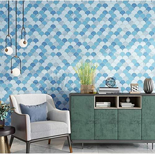 Modern Design Cirkel Patroon Muurpapier Blauw Grijs Beige Behang Slaapkamer Woonkamer Meubeldecoratie (10mx53cm)
