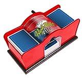 Deluxe Manual Card Shuffler (2-Deck) for Blackjack, Poker - Hand Crank Shuffler Includes 2 Free Playing Card Decks
