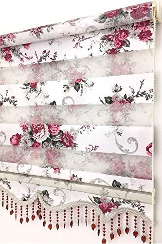 LOGO Finestra di Controllo Blinds drappeggia Protezione Tende Camera da Letto Ufficio del Salone della casa Finestra della Cucina (Color : C, Size : W 130cm x H 200cm)