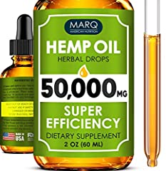 ALL NATURAL - Our hemp oil drops are made from the finest ingredients, absolutely natural. It means no chemical fertilizers or GMO - only ultra-purified product of the highest quality. IMPRESSIVE BENEFITS - Get 2 oz (60ml) with 50,000 mg of the premi...